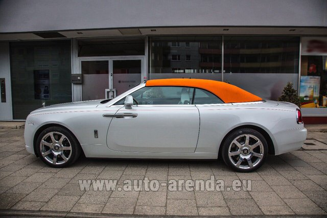 Hire and delivery to Starnberg the car Rolls-Royce Dawn White