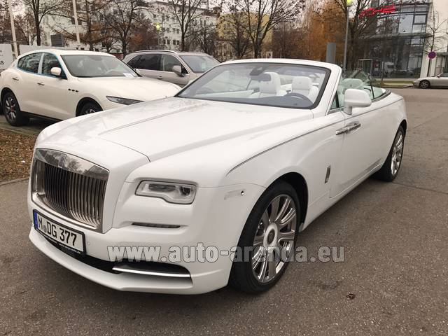 Hire and delivery to the München airport the car Rolls-Royce Dawn